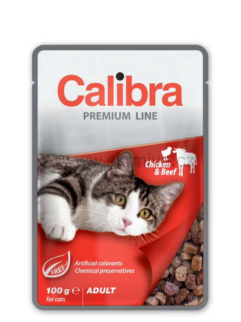 Calibra Cat kapsa Premium Adult Chicken & Beef 100g