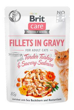 Brit Care Cat Fillets in Gravy Turkey&Salmon 85g
