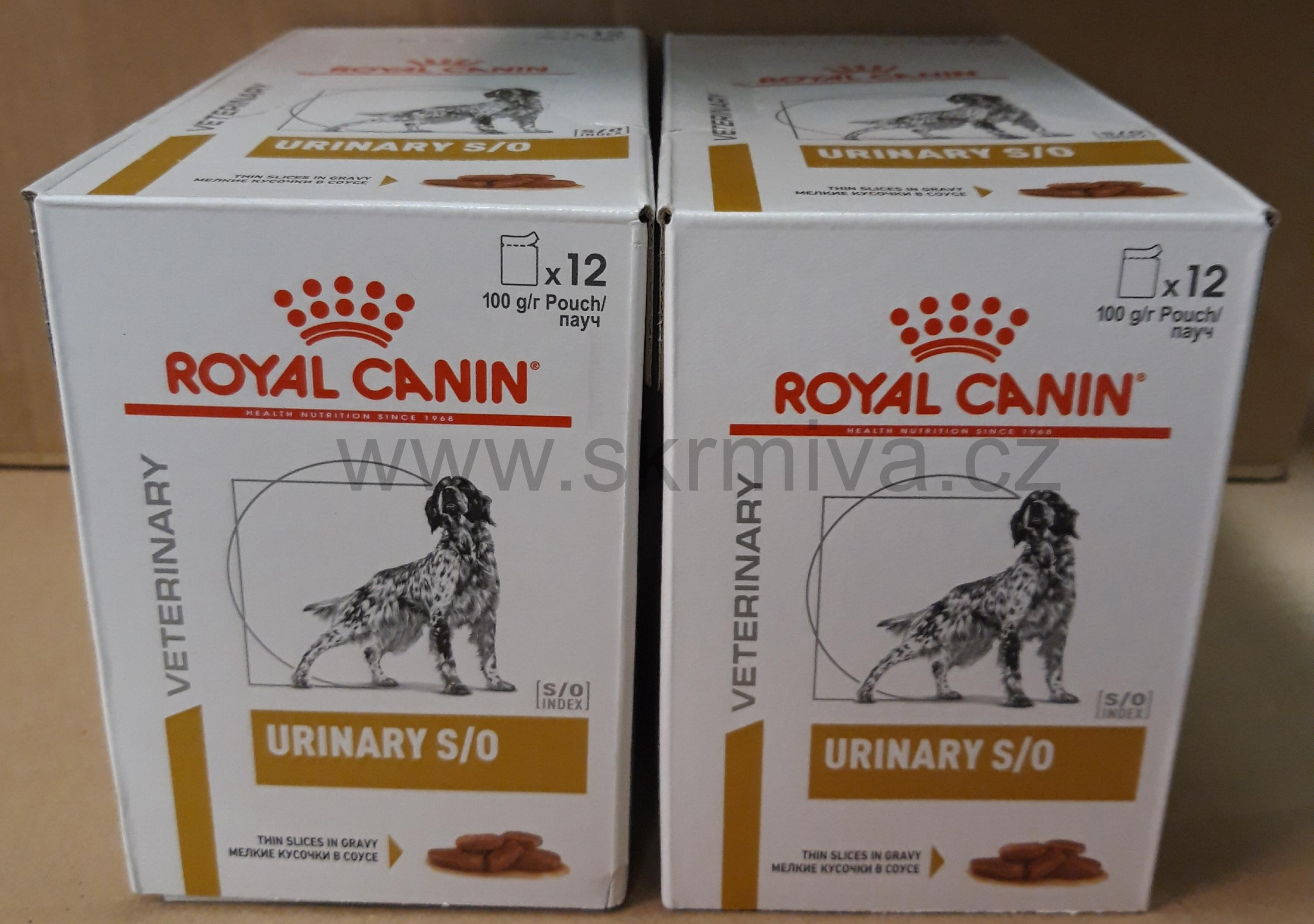 Royal Canin VD Canine Urinary S/O 12x100g kapsa