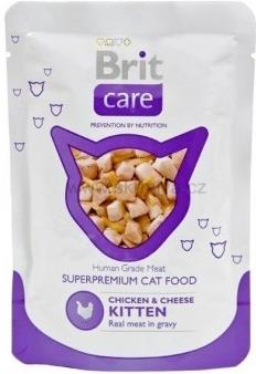 Brit Care Cat Kitten Chicken & Cheese kaps.12x80g