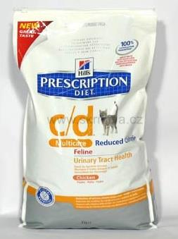 Hill's Feline C/D Dry Urinary Stress Red. Calorie 4kg
