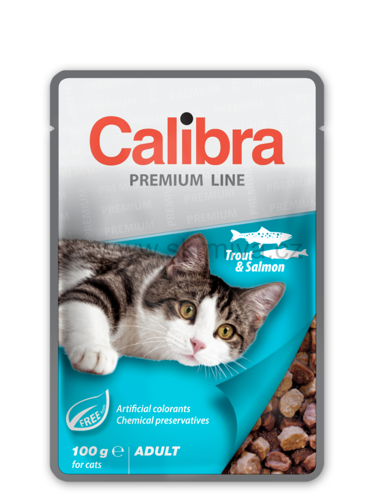 Calibra Cat kapsa Premium Adult Trout & Salmon 100g