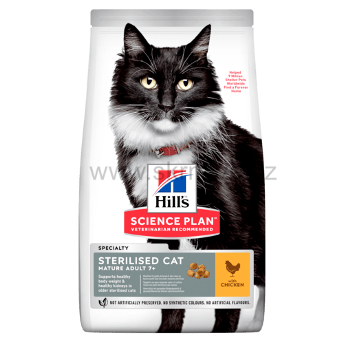 Hill's Fel. Dry Mat Adult7+Sterilised Chicken 10kg